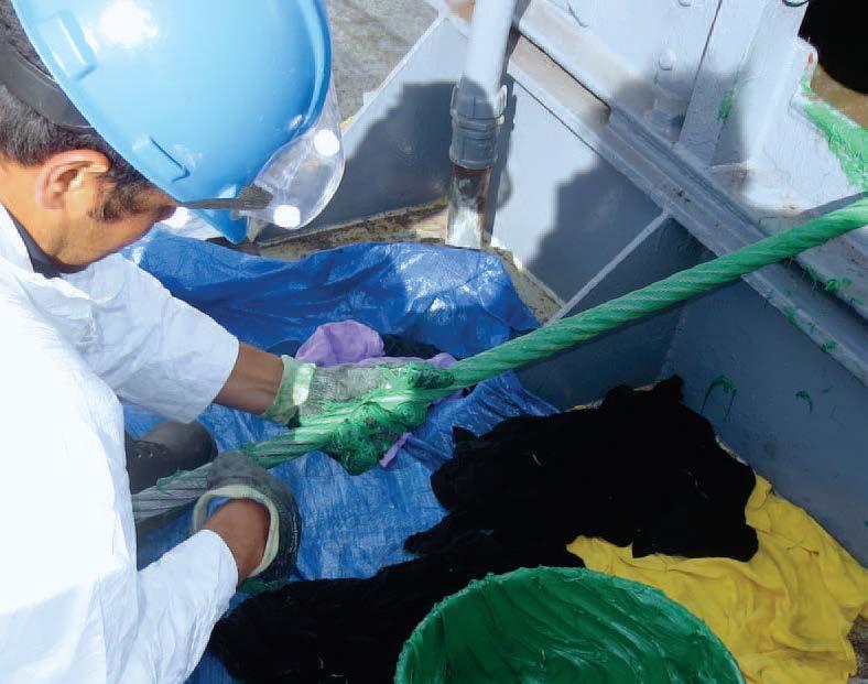 California Maritime Academy hand lubing.